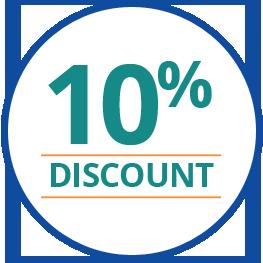 10% Off Badge