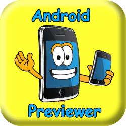 android previewer button
