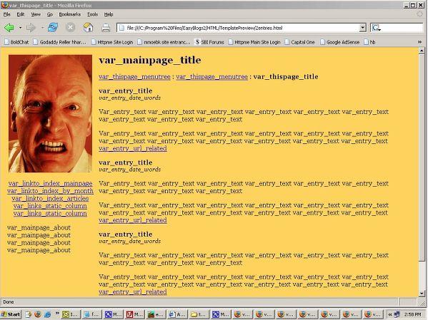 Angry Man template