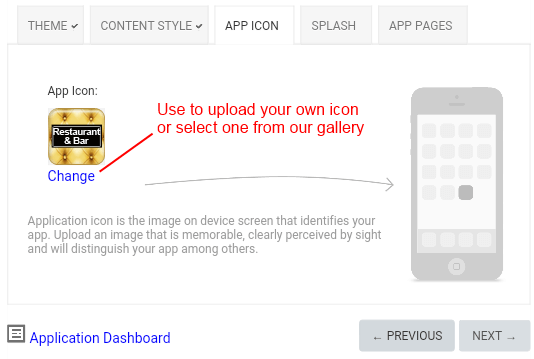 Set app icon