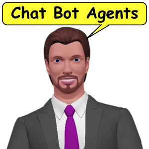 Chat Bot Agents engage conversations.