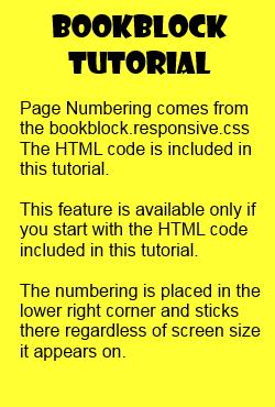 Bookblock tutorial page numbering