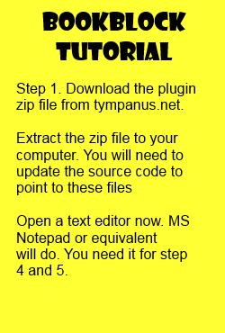 Bookblock tutorial step 1