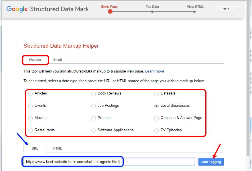 Google structured data markupscreen
