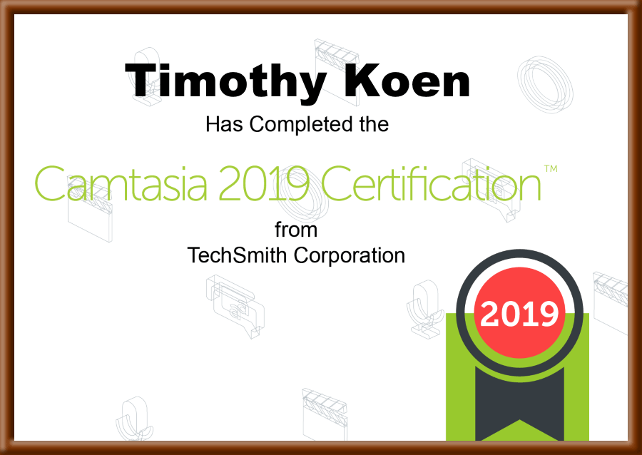 Camtasia Certification