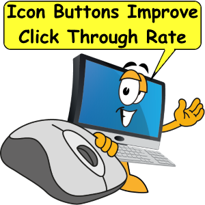 Icon buttons improve click through rate