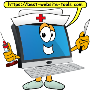 Computer cartoon nurse