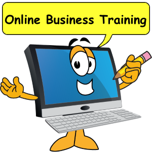 Computer saying online business training