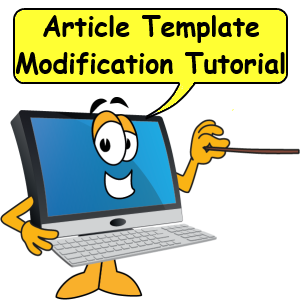 Article template modification tutorial