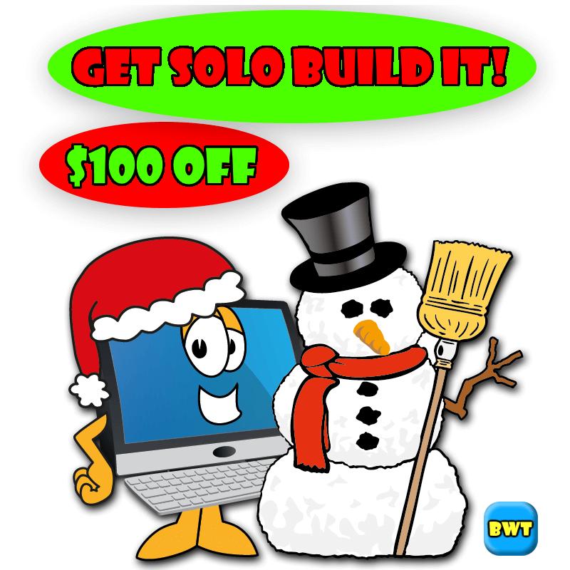 Solo Build It Snowman banner