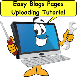 Easy Blogs pages uploading tutorial