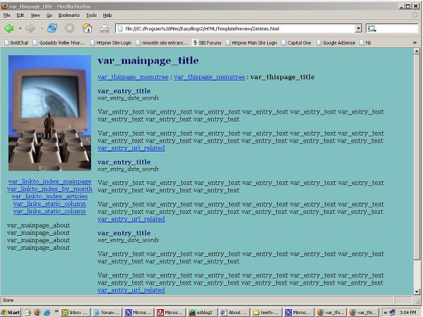 Computer Man template