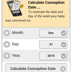 Conception Date Calculator home page