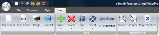 eWriter Pro editor console