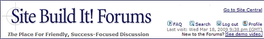 Visit the forums