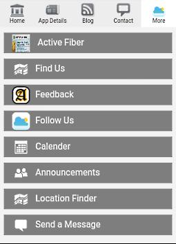 Stripe menu from mobile app