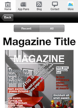 Screenshot of Magazine reader page