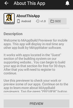 App description page