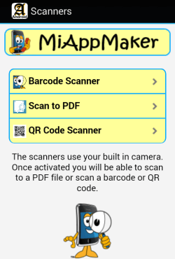 Scanners page