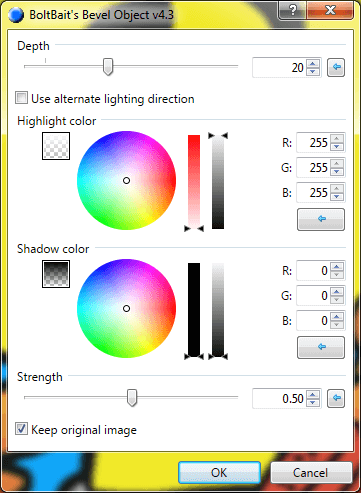 Bevel screen in Paint.net