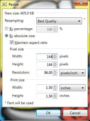 Resize screen in Paint.net