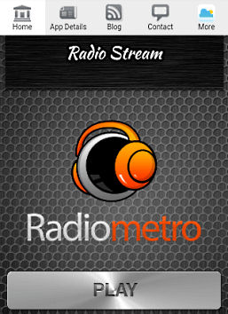 Screenshot of Radio Stream page