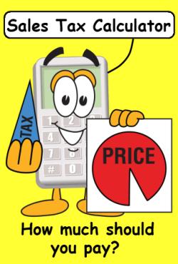 Sales Tax Calculator spash page