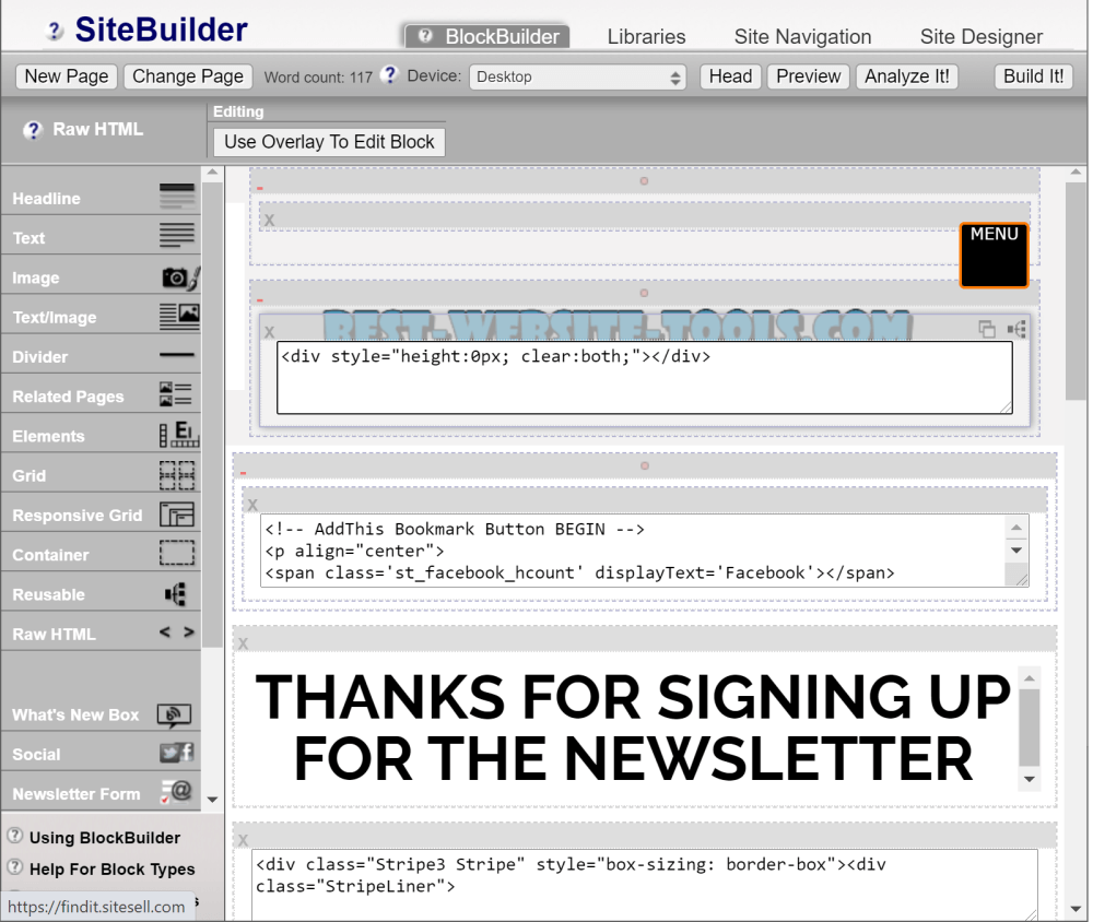 SBI SiteBuilder module