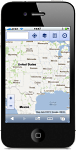 map on a smartphone