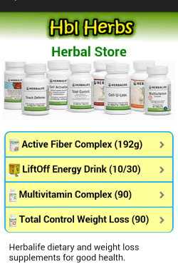Herbal Store in Mobile Utility App.