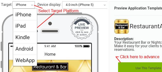 Select a platform