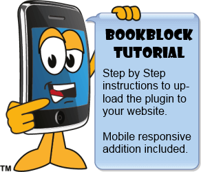 Smartphone with Bookblock Tutorial sign