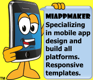 Mobile App Maker sign