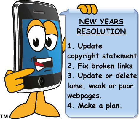 Website tips for new years resolution