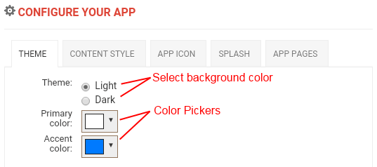 Select Navigation Tabs Structure