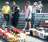 On the grid at Mid-Ohio Sports Car Race Track