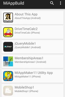 app list Screenshot