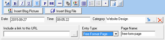 Blog Entry Editor