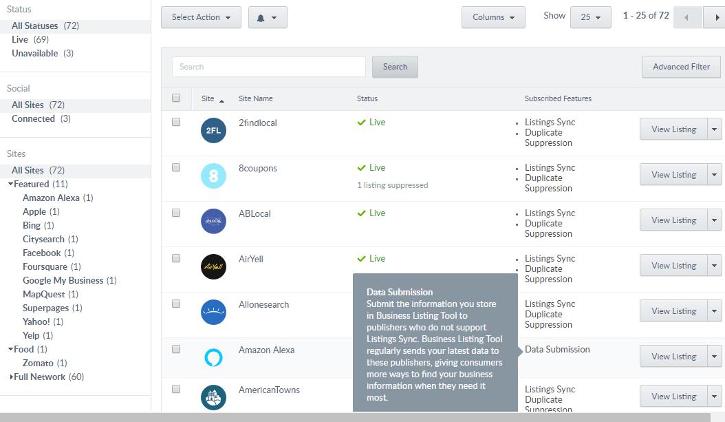 Business Listing Tool