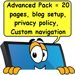 computer saying advanced package