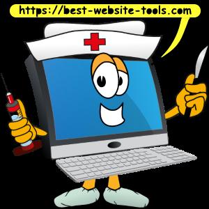 Computer cartoon nurse
