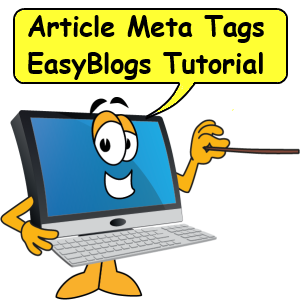 Article meta tags EasyBlogs tutorial