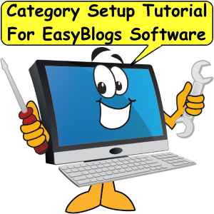 Category setup tutorial for EasyBlogs