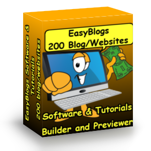 EasyBlogs Box with Computer characiture