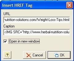 Easy Blogs link window