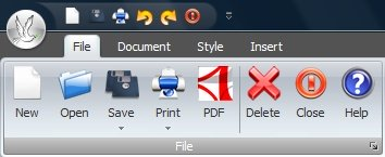 eWriter PRO - document management section