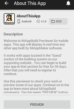 App description page