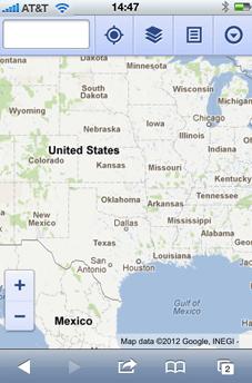 Screenshot of a map