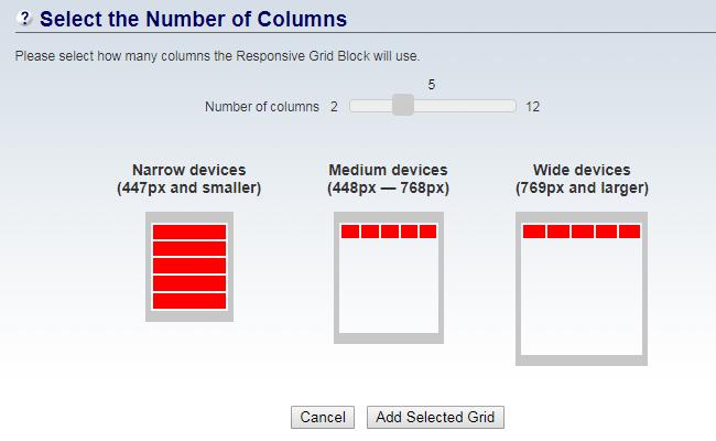 BB2 Responsive Grid Selector