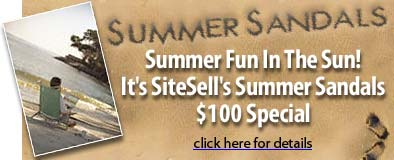SiteSell's summer special - get two websites - save $200
